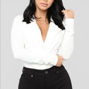 Fashionnova White Bodysuit